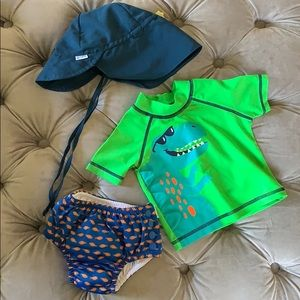 Brand new baby boy swim set (3-6 month)